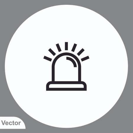 Siren vector icon sign symbol
