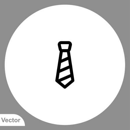 Tie vector icon sign symbol