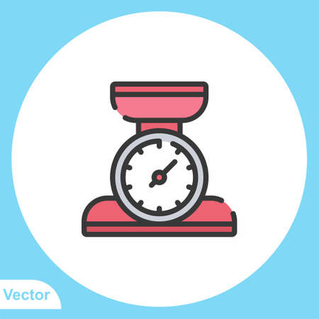 Weight scale vector icon sign symbol