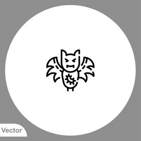 Bat icon sign vector, Symbol, logo illustration for web and mobile Ilustracja