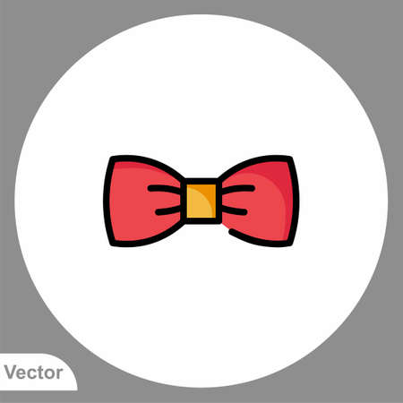 Bow tie vector icon sign symbol