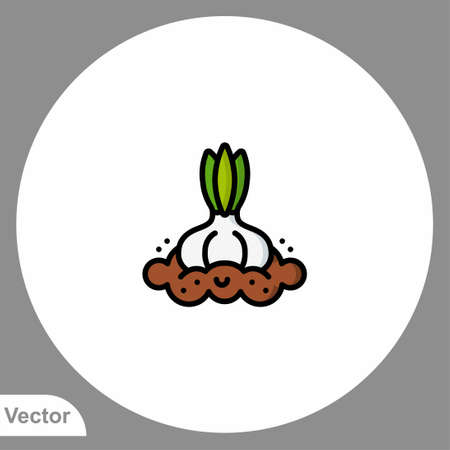 Garlic icon sign vector, Symbol, logo illustration for web and mobile