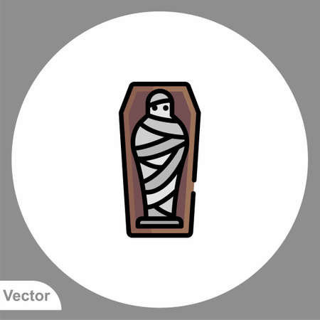 Mummy icon sign vector, Symbol, logo illustration for web and mobile