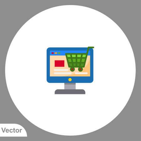 Online order vector icon sign symbol Çizim