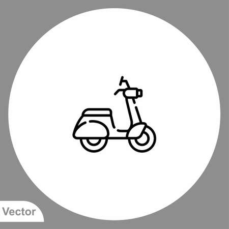 Motorcycle icon sign vector, Symbol, logo illustration for web and mobile