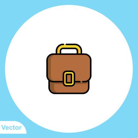 Briefcase vector icon sign symbol