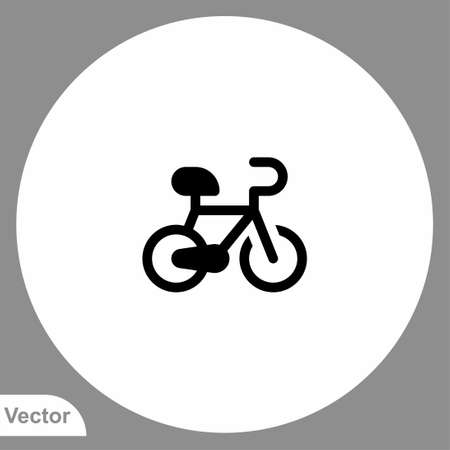 Bicycle icon sign vector, Symbol, logo illustration for web and mobile