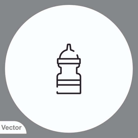 Water bottle vector icon sign symbol