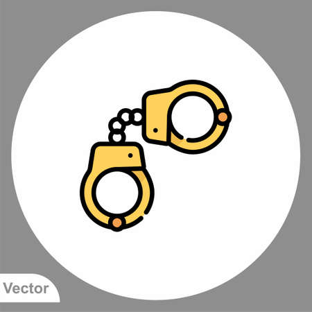 Handcuffs icon sign vector, Symbol, logo illustration for web and mobile 向量圖像