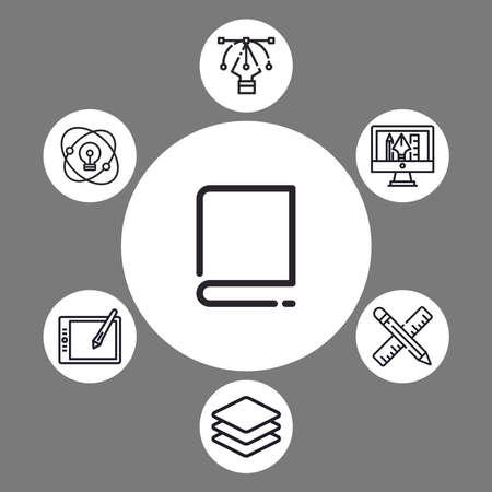 Book vector icon sign symbol Ilustração