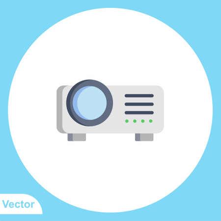 Projector vector icon sign symbol  イラスト・ベクター素材