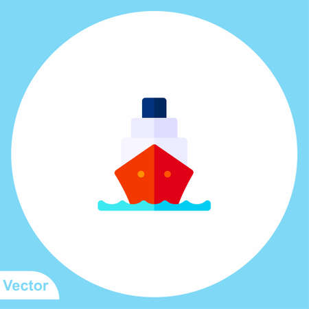 Ship vector icon sign symbol
