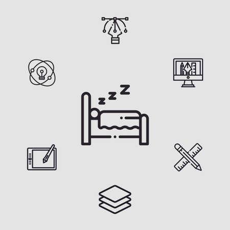 Bed vector icon sign symbol  イラスト・ベクター素材