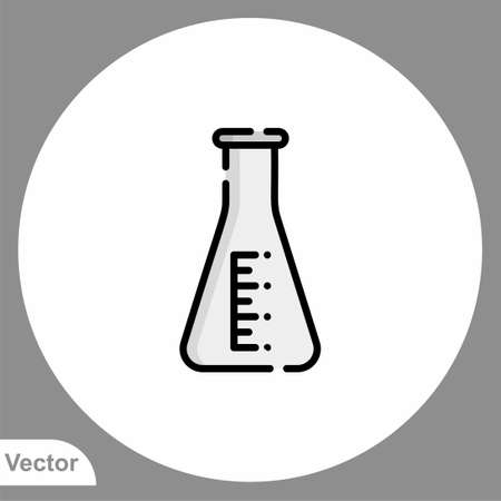 Flask icon sign vector, Symbol illustration for web and mobile  イラスト・ベクター素材