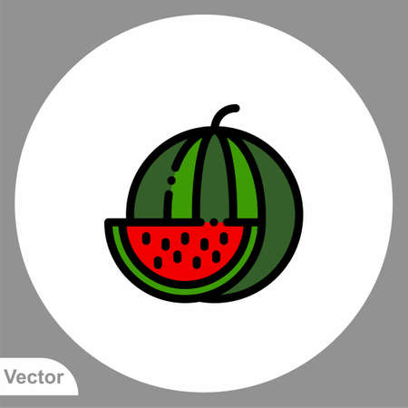 Watermelon vector icon sign symbol