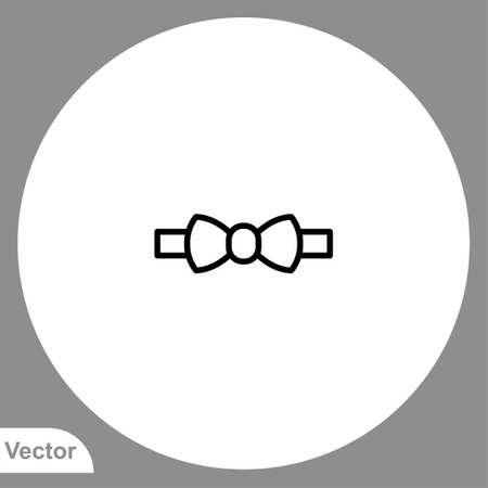 Bow tie vector icon sign symbol