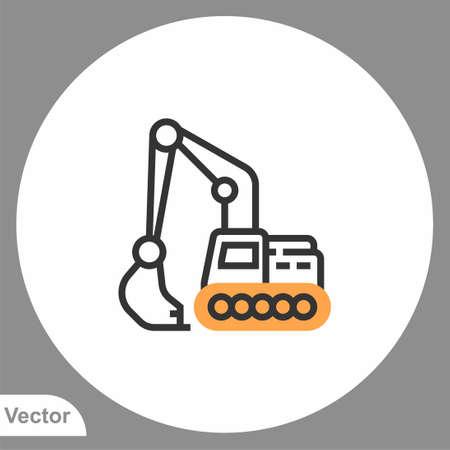 Excavator icon sign vector, Symbol illustration for web and mobile Illusztráció