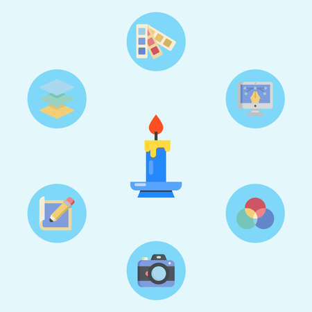 Candle vector icon sign symbol