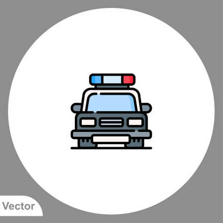 Police car icon sign vector, Symbol illustration for web and mobile