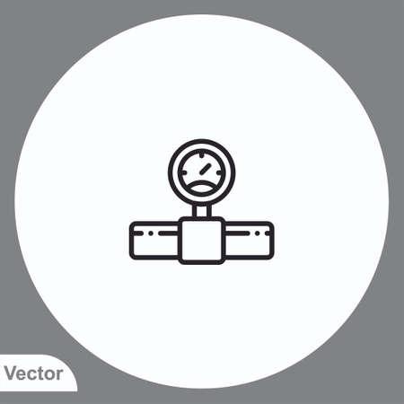Pipe vector icon sign symbol Illusztráció
