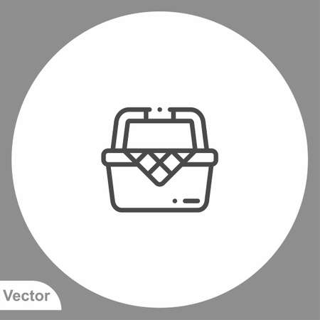Picnic basket icon sign vector, Symbol illustration for web and mobile