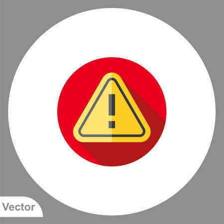 Warning vector icon sign symbol