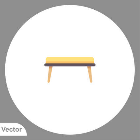 Bench icon sign vector, Symbol illustration for web and mobile