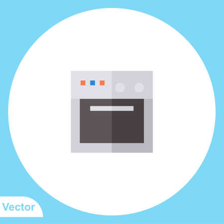 Gas stove flat vector icon sign symbol 일러스트