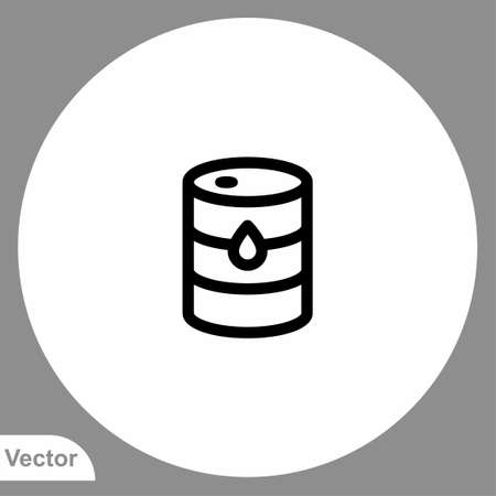 Oil barrel icon sign vector, Symbol illustration for web and mobile Stock Illustratie
