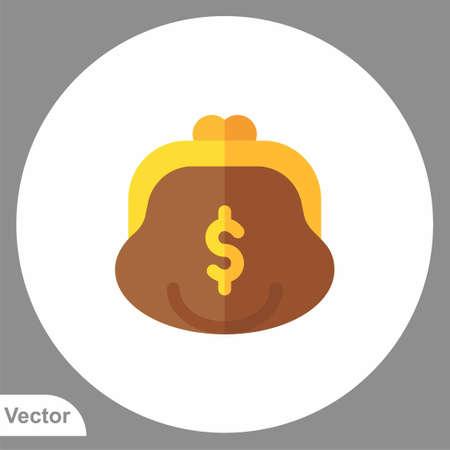 Purse vector icon sign symbol