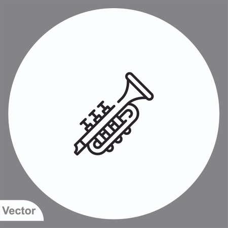 Trumpet vector icon sign symbol Vectores