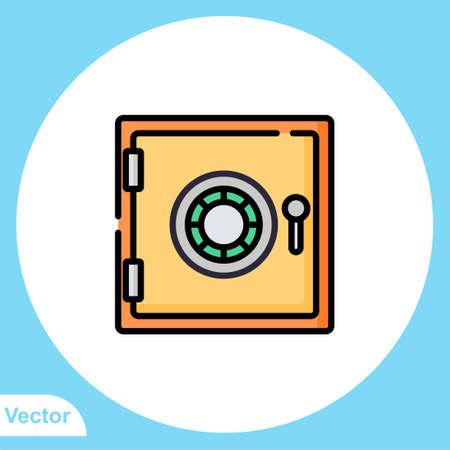 Safe box vector icon sign symbol