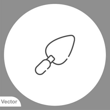 Trowel icon sign vector, Symbol illustration for web and mobile Illustration