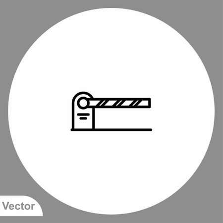 Traffic barrier icon sign vector, Symbol illustration for web and mobile