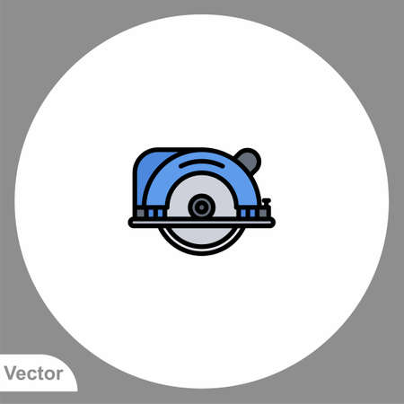 Circular saw icon sign vector, Symbol illustration for web and mobile 일러스트