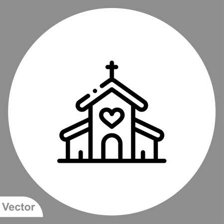 Church icon sign vector, Symbol illustration for web and mobile 일러스트