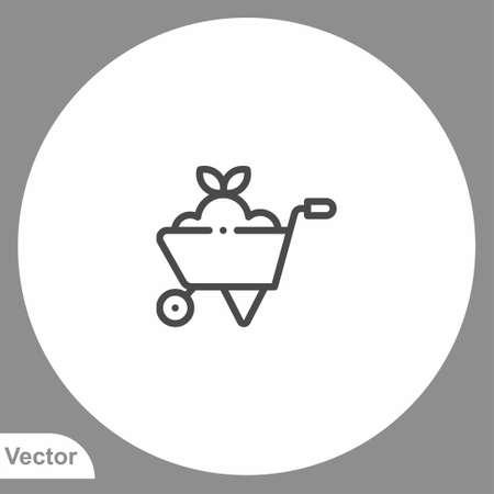 Wheelbarrow icon sign vector, Symbol illustration for web and mobile 일러스트