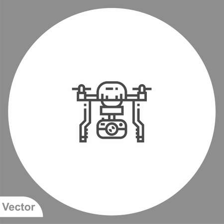Drone icon sign vector, Symbol illustration for web and mobile
