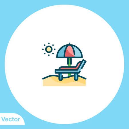Sun umbrella vector icon sign symbol 일러스트