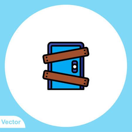 Door vector icon sign symbol 일러스트