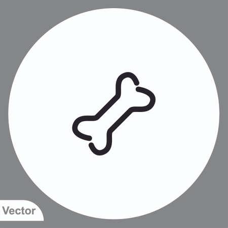 Bone vector icon sign symbol 일러스트
