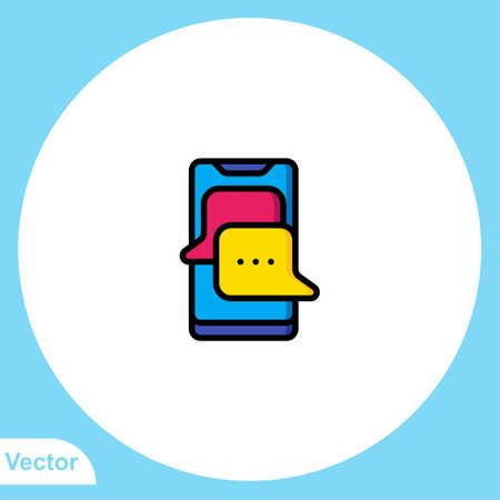 Chat vector icon sign symbol 일러스트