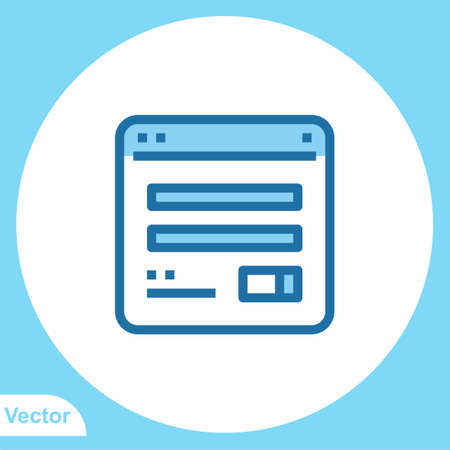 Browser vector icon sign symbol