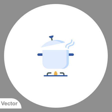 Pot icon sign vector, Symbol illustration for web and mobile