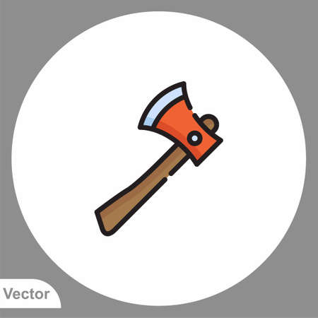 Ax icon sign vector, Symbol illustration for web and mobile 일러스트