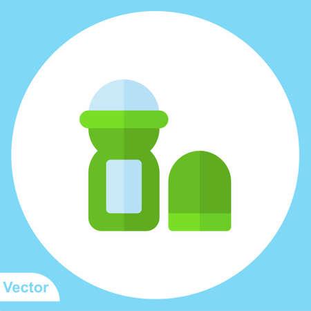 Deodorant flat vector icon sign symbol