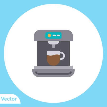 Coffee machine flat vector icon sign symbol 일러스트