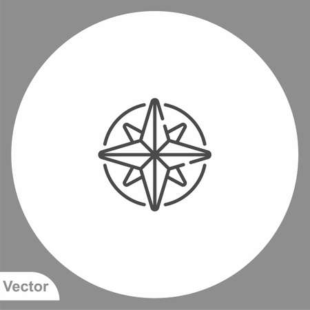 Compass icon sign vector, Symbol illustration for web and mobile
