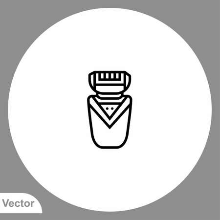 Electric razor vector icon sign symbol