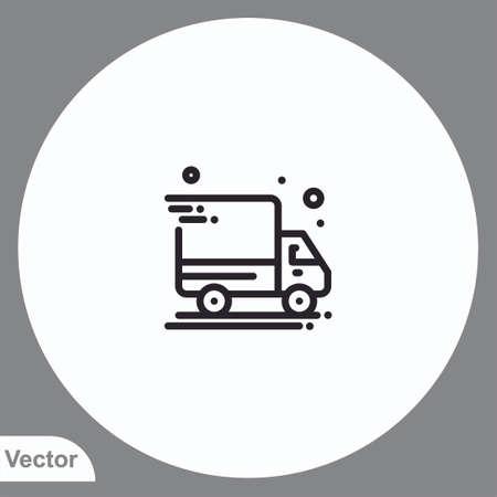 Delivery vector icon sign symbol